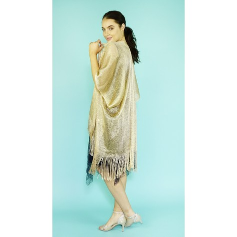 Pamela Scott Gold Shimmer Long Scarf