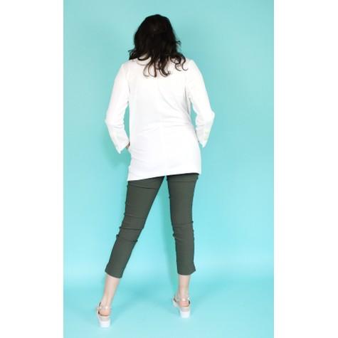 SophieB Off White Long Line Open Jacket