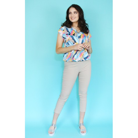 SophieB Sand Slim Trousers