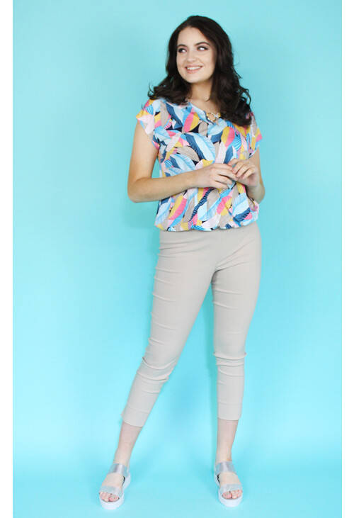 Sophie B Sand Slim Trousers