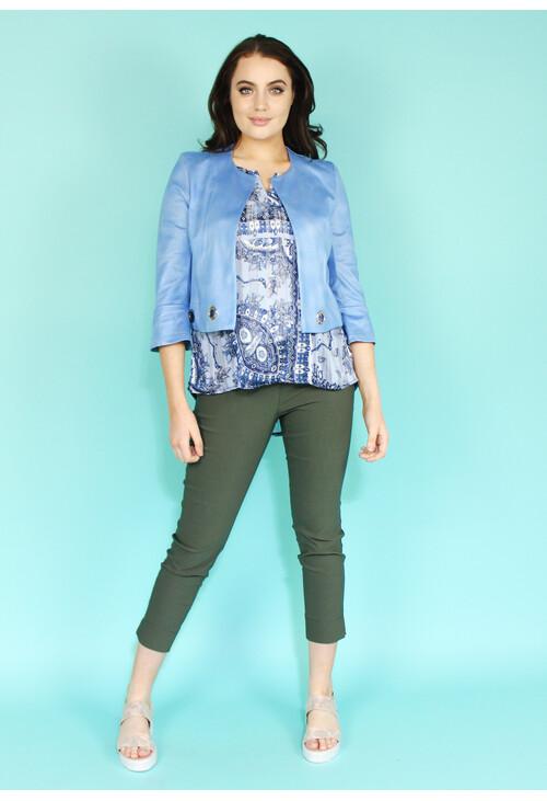 Sophie B Light Blue Crop Jacket