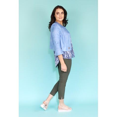SophieB Light Blue Crop Jacket