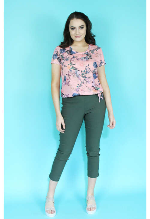 Sophie B Khaki Crop Trousers