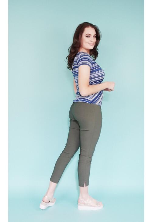 Zapara Royal Blue & White Stripe Top