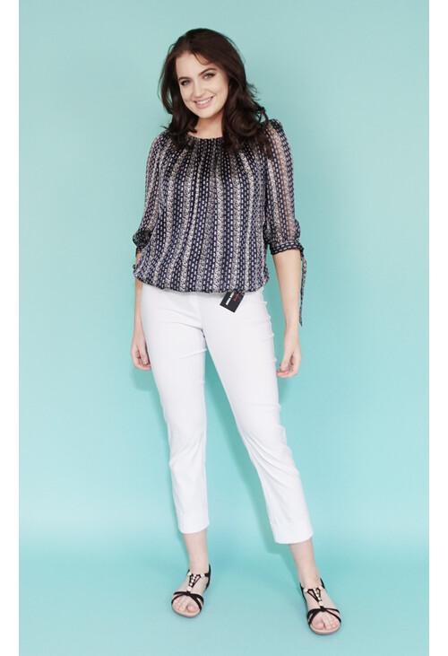 Anna Montana Magic Shape White Crop Trousers