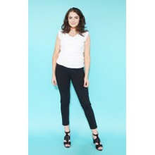 Zapara Off White Rouched Top