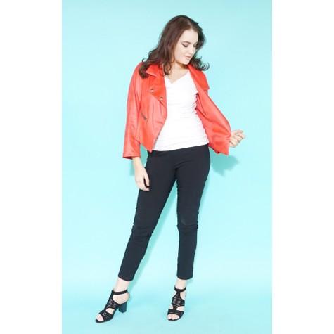 SophieB Coral Denim Zip Detail Crop Jacket