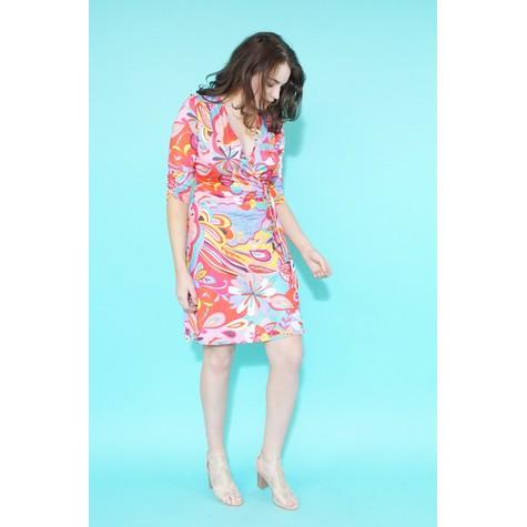 Zapara Pink Pucci Print Wrap Dress