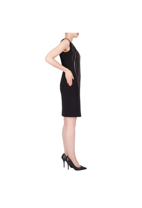 Joseph Ribkoff Black Diamante Pattern Dress