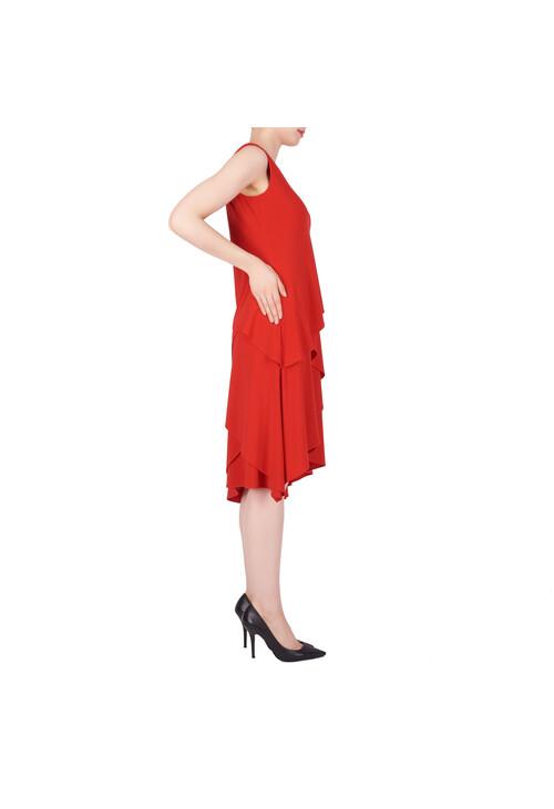 Joseph Ribkoff Red Layered Classic Dress