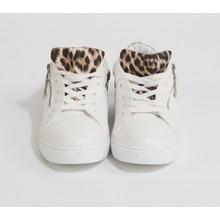 Bestelle Leopard Print Lace Up Trainers