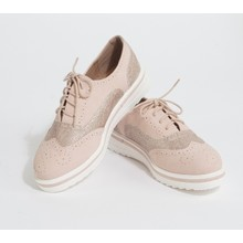 Pamela Scott Pink Lace Up Brogues
