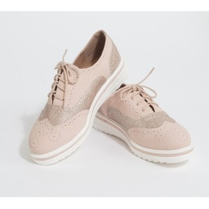 Lov it Pink Lace Up Brogues