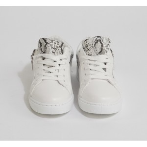 Bestelle Snake Print Lace Up Trainers