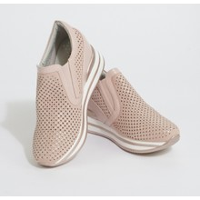 Pamela Scott Pink Laser Cut Detail Wedges