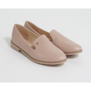 Laura Mode Apricot Slip On Loafers