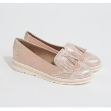 Pamela Scott Pink Metallic Slip Loafers