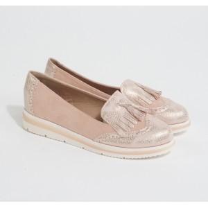 Bestelle Pink Metallic Slip Loafers