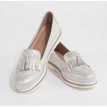 Bestelle Grey Metallic Slip On Loafer