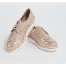 Pamela Scott Champagne Lace Up Brogues