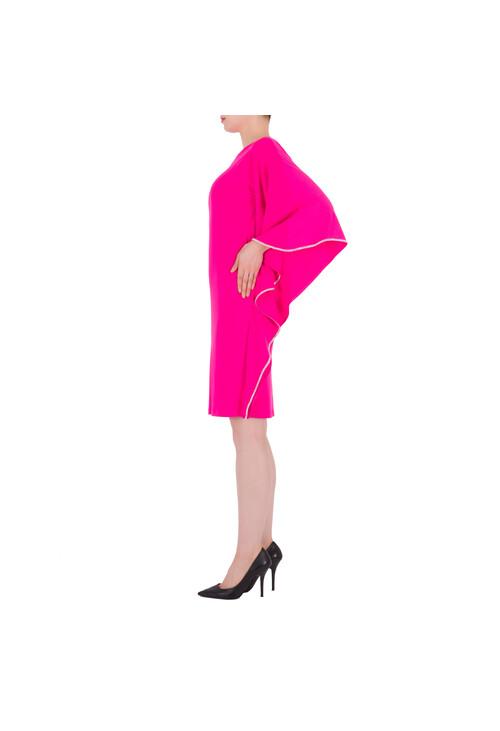 Joseph Ribkoff Fushia Cape Sleeve Classic Dress