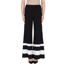 Joseph Ribkoff Black Flare White Strip Trousers