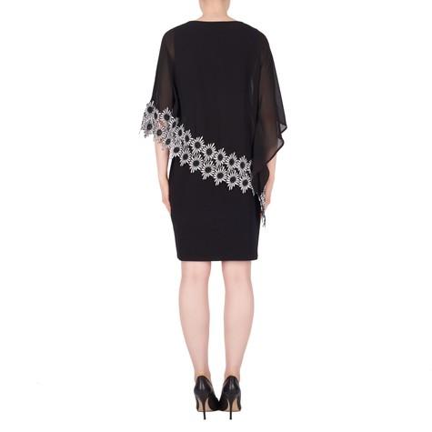 Joseph Ribkoff Black Cape Pattern Dress