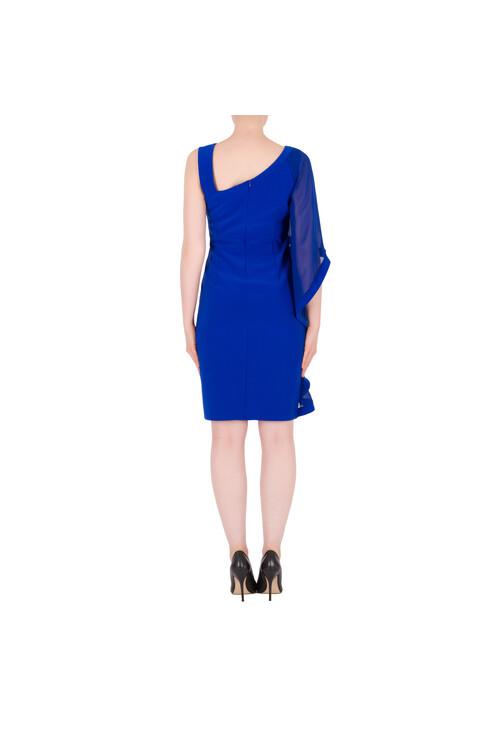 Joseph Ribkoff Royal Blue Cape Sleeve Dress