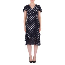 Joseph Ribkoff Navy Polka Dot Classic Dress