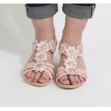 Libra Pop Pink Floral Design Sandals