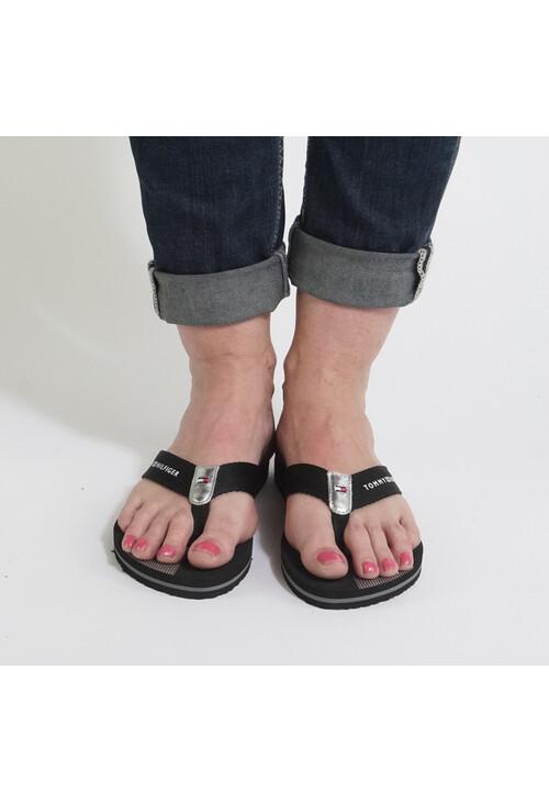 Tommy Hilfiger Black Beach Sandals