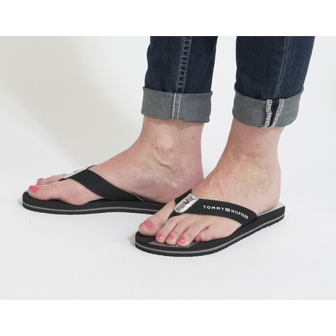 Tommy Hilfiger Black Beach Sandals