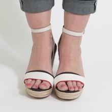 Tommy Hilfiger Navy & Cream High Wedge Sandals