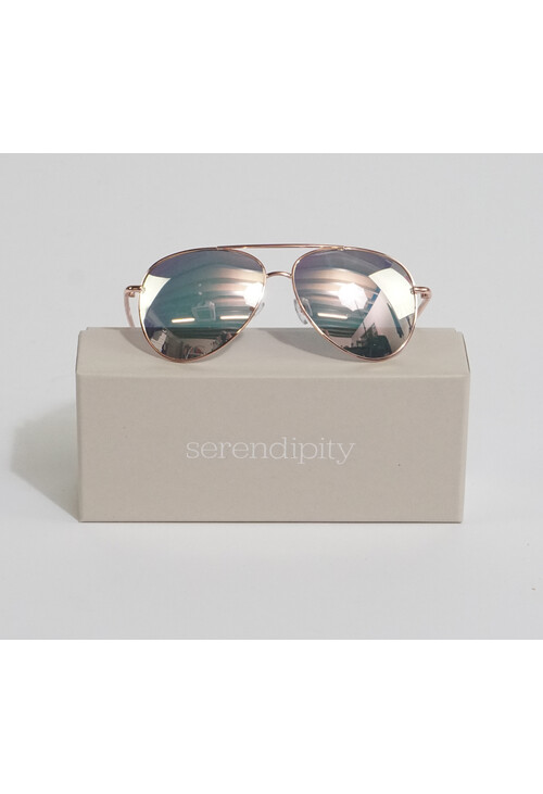 Serendipity Classic Aviator Metallic Rose