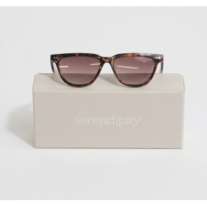 Serendipity Classic Skinny Black & Brown Sunglasses