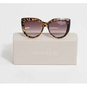 Serendipity Classic Black & Brown Cat Eye Sunglasses