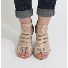 Pamela Scott Apricot Cage High Heel Shoe