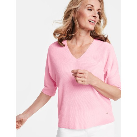 Gerry Weber Candy Pink V-Neck Sweater