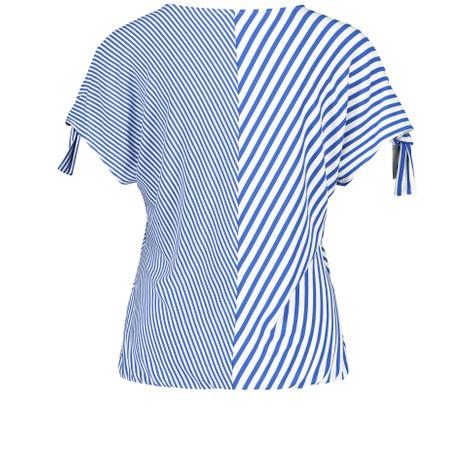 Gerry Weber Ecru / White / Blue stripes asymmetric stripes Top