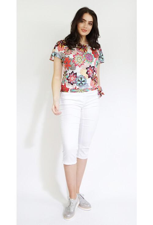 Twist White 3/4 Trousers