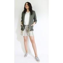 SophieB Khaki Stripe Belt Shorts