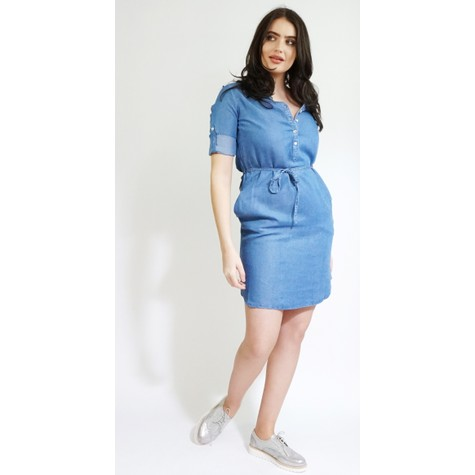 Twist Fine Blue Light Denim Dress