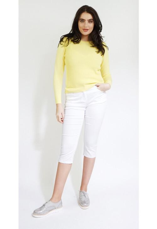 Twist Lemon Round Neck Knit