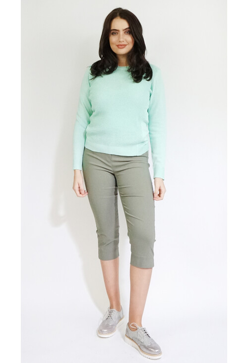 Twist Fresh Mint Round Neck Knit
