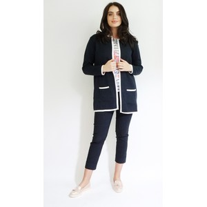Twist Long Chanel Style Navy & Pink Knit