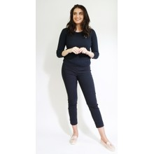 Twist Navy Cable Round Neck Knit