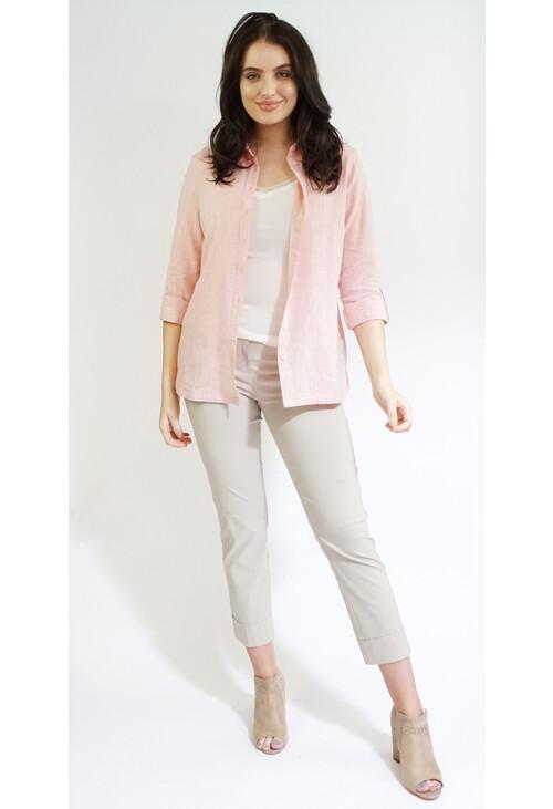Twist Sorbet Linen Feel Summer Shirt