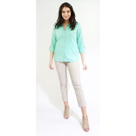 Twist Mint Linen Feel Summer Shirt