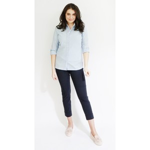 Twist Light Blue Linen Feel Summer Shirt