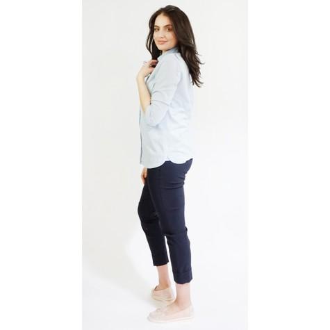 Twist Light Blue Linen Feel Summer Shirt
